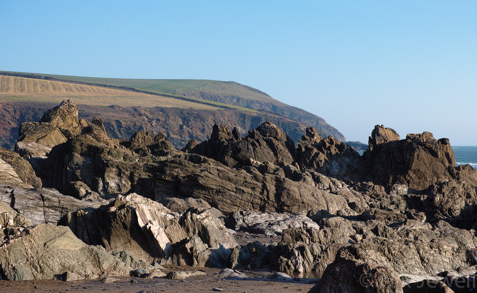 Owen's Point between Meadowsfoot Beach and the Erme Estuary in the South Hams of Devon