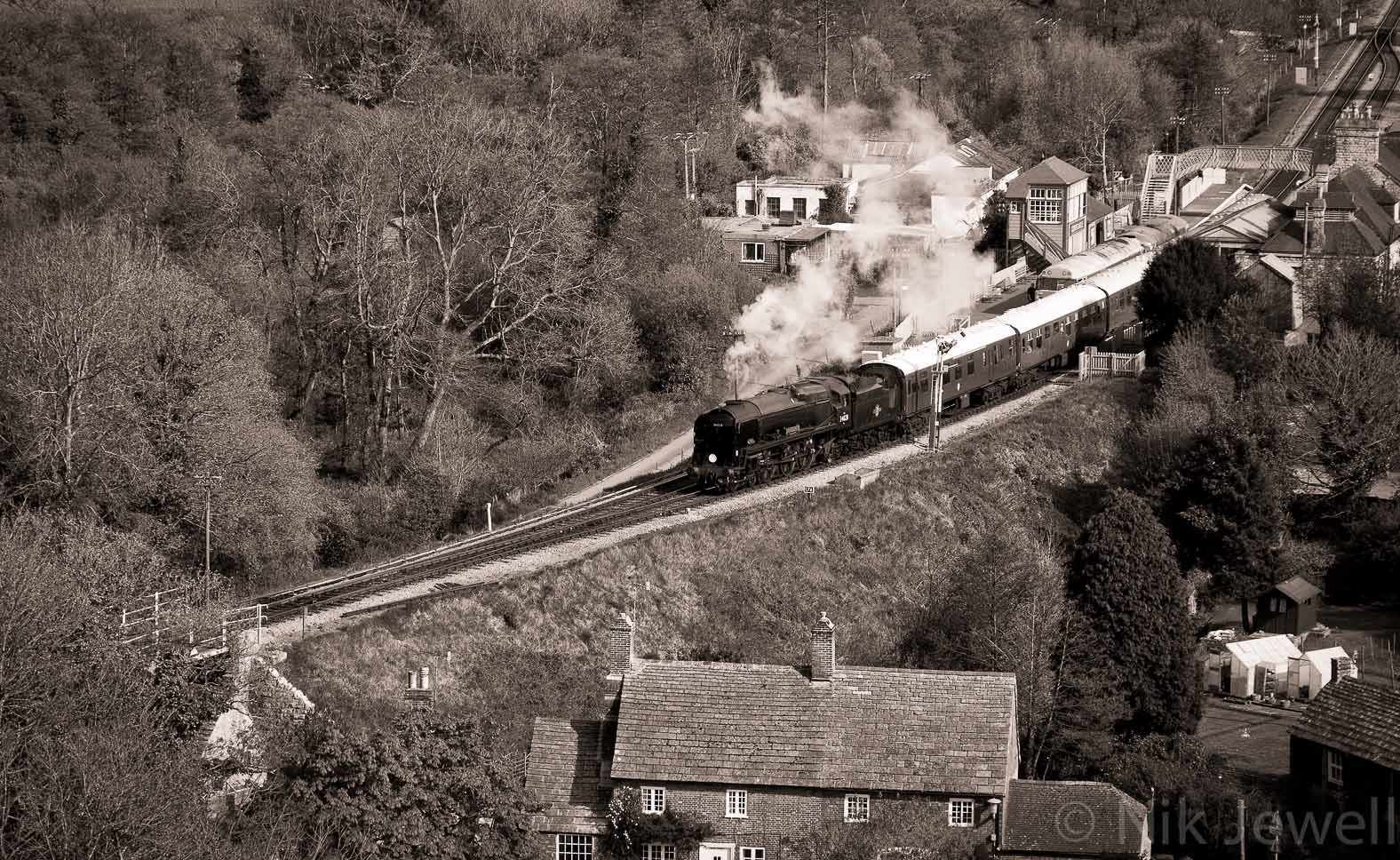After-Steam Train, Corfe Castle