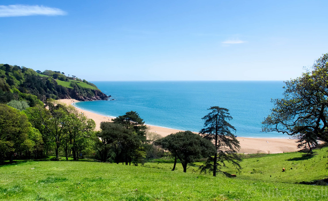 The golden crescent of Blackpool Sands near Dartmouth in the South Hams of Devon