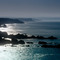 Image of winter sun lighting the sea off Duckpool and Sandymouth on the Culm Coast