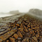 Image of mists over wet rocks on the Breakwater at Bude