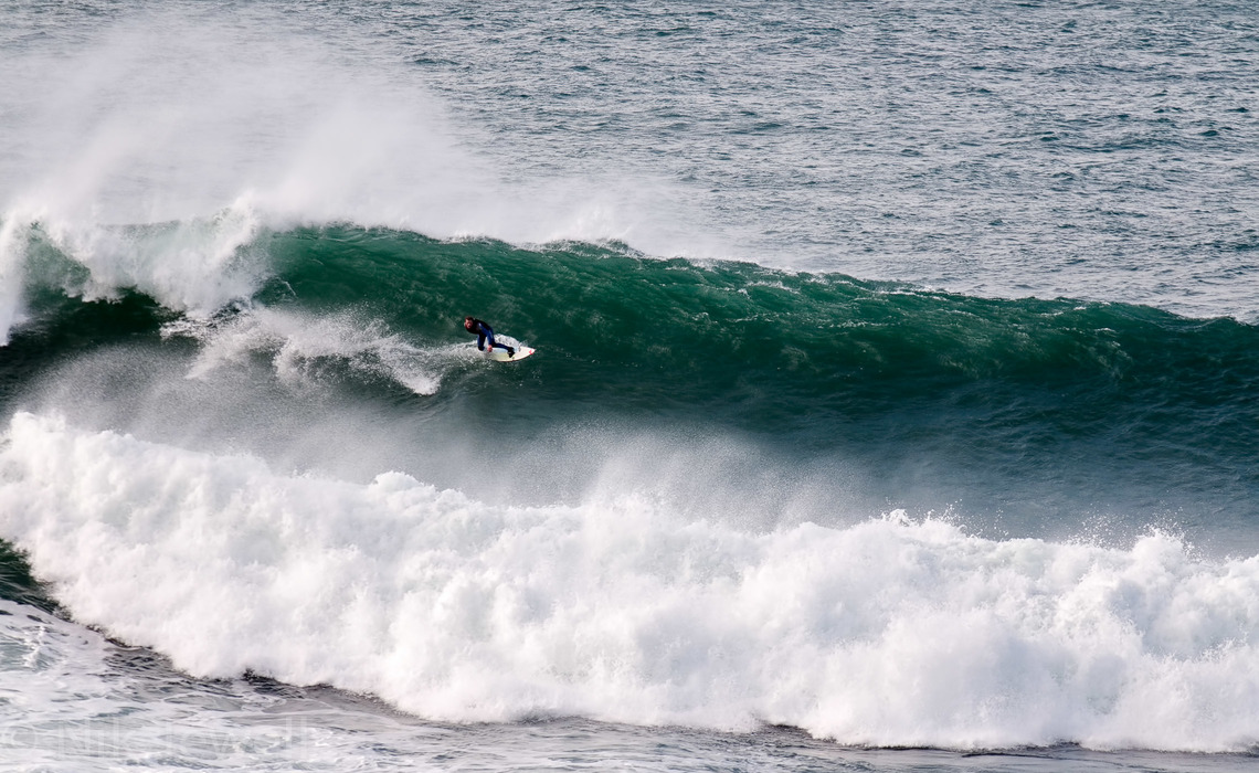 Image of surfer Ben Skinner on The Cribbar at Newquay