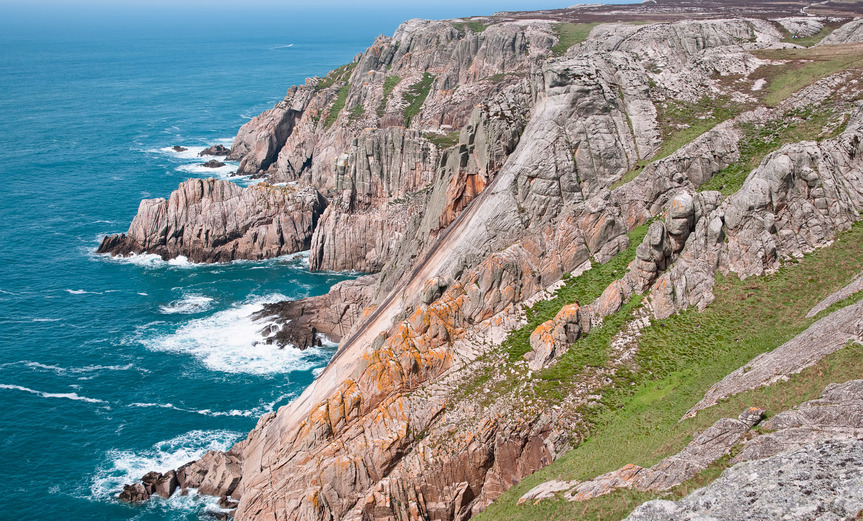 Image of the classic rock feature 'The Devil's Slide' on Lundy Island