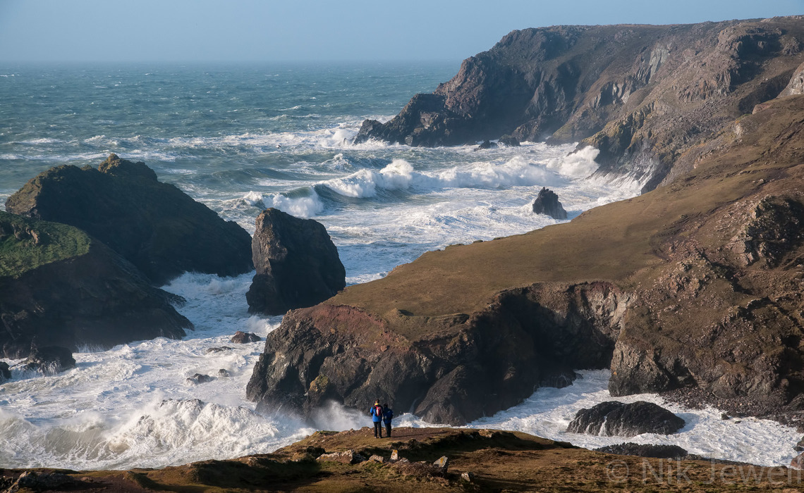 Image of white water and wild seas at Kynance Cove