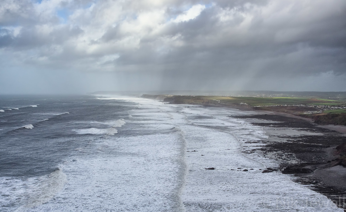 Image of widely spaced waves at Widemouth Bay