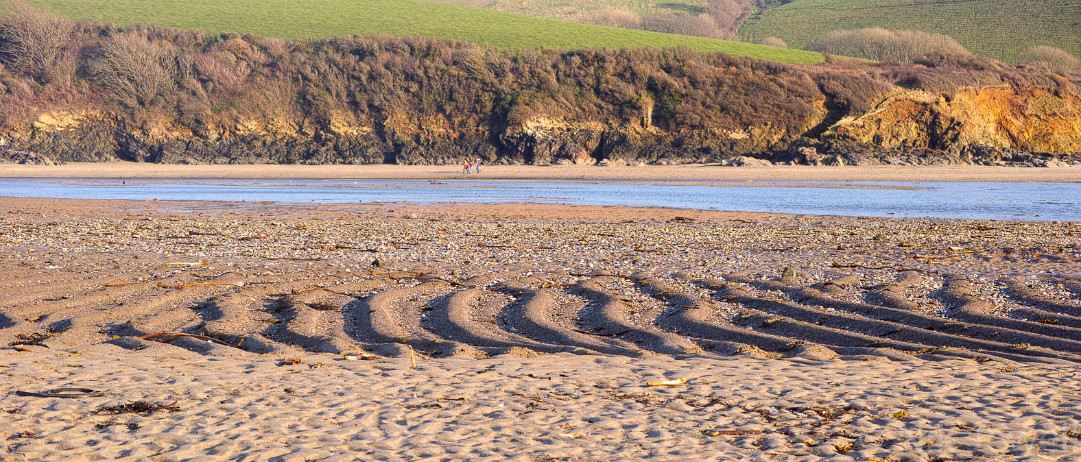 Ripples in the sand of the Erme Estuary in the South Hams of Devon