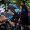 TdeF 04: Harrogate, Finish, Chris Froome rolling back to bus